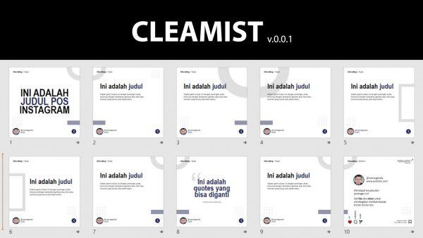 cleamist template instagram